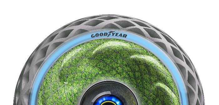 Goodyear's Oxygene concept features lighting signals to indicate to other road users what the vehicle is about to do