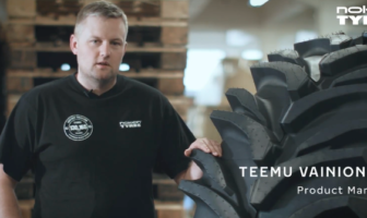 Industrial designer, Caleb Claassen and product manager, Teemu Vainionpää, explain the technologies behind the new tire designed for heavy machinery forestry and earthmoving applications