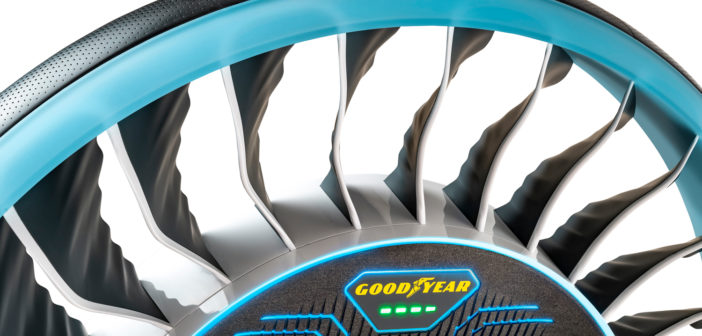Goodyear debuts Aero tire concept for autonomous and flying cars