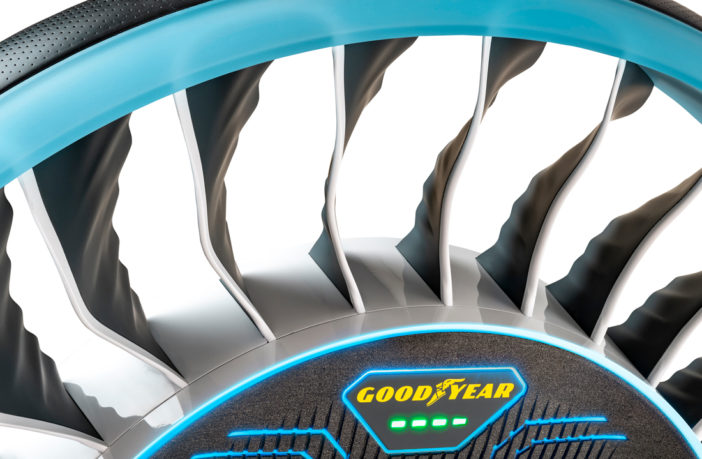 Goodyear debuts Aero tire concept for flying and autonomous vehicles
