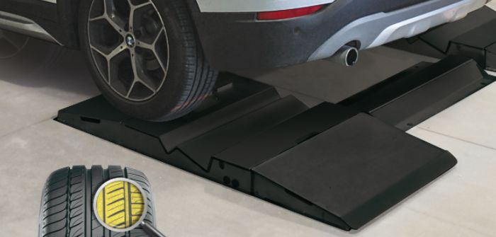 New technology indicates tire wear as vehicle drives over
