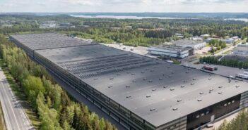 Solar power plant installed at Nokian Tyres' Finnish logistics center